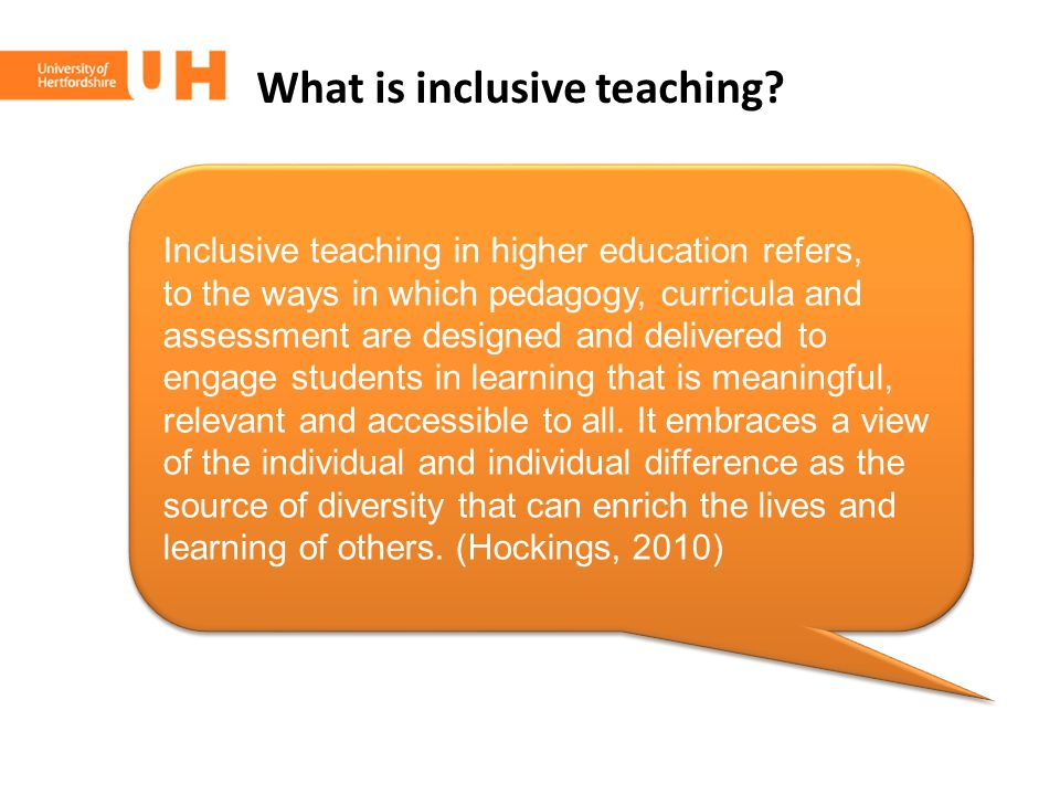 What is inclusive teaching