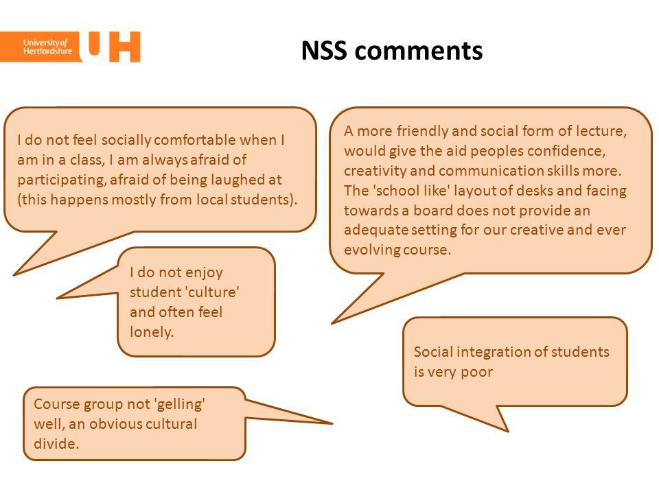 NSS comments