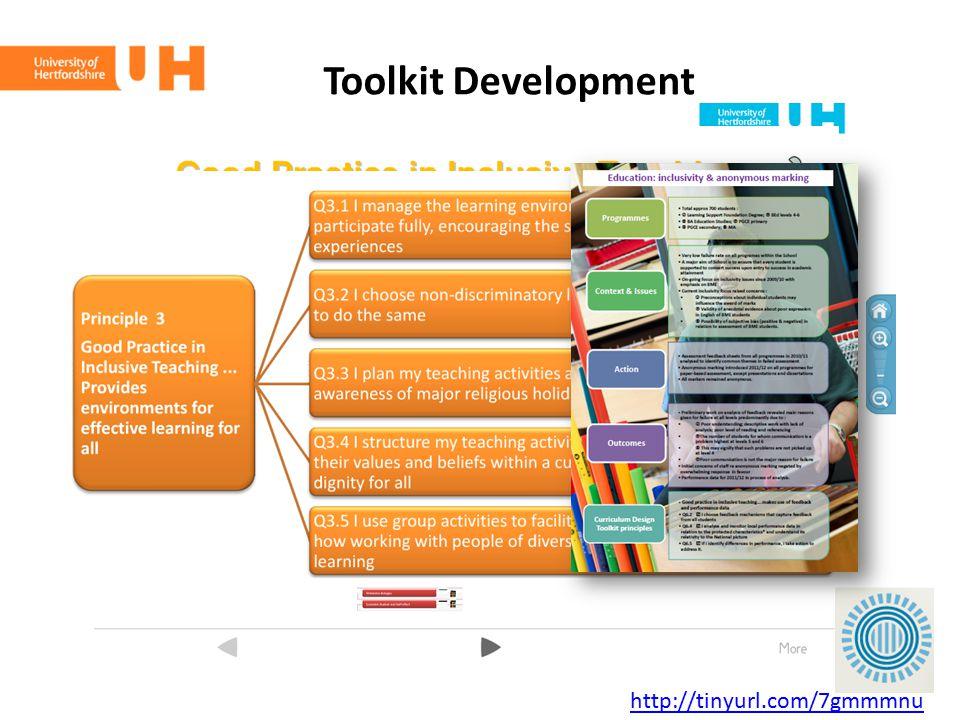 Toolkit Development http://tinyurl.com/7gmmmnu Toolkit Development