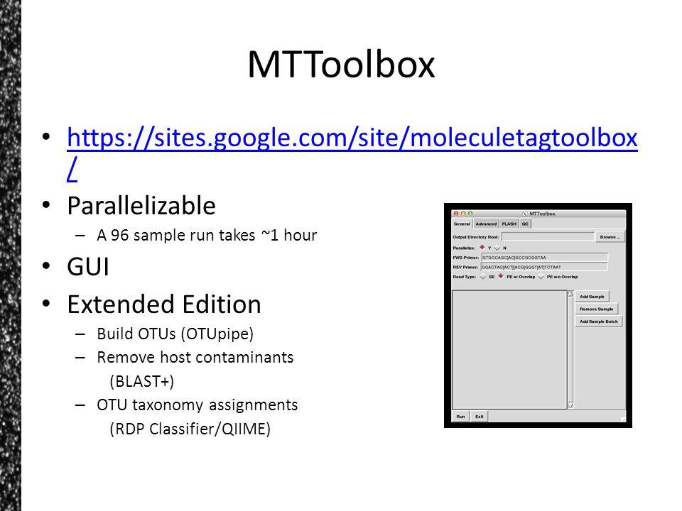 MTToolbox https://sites.google.com/site/moleculetagtoolbox/