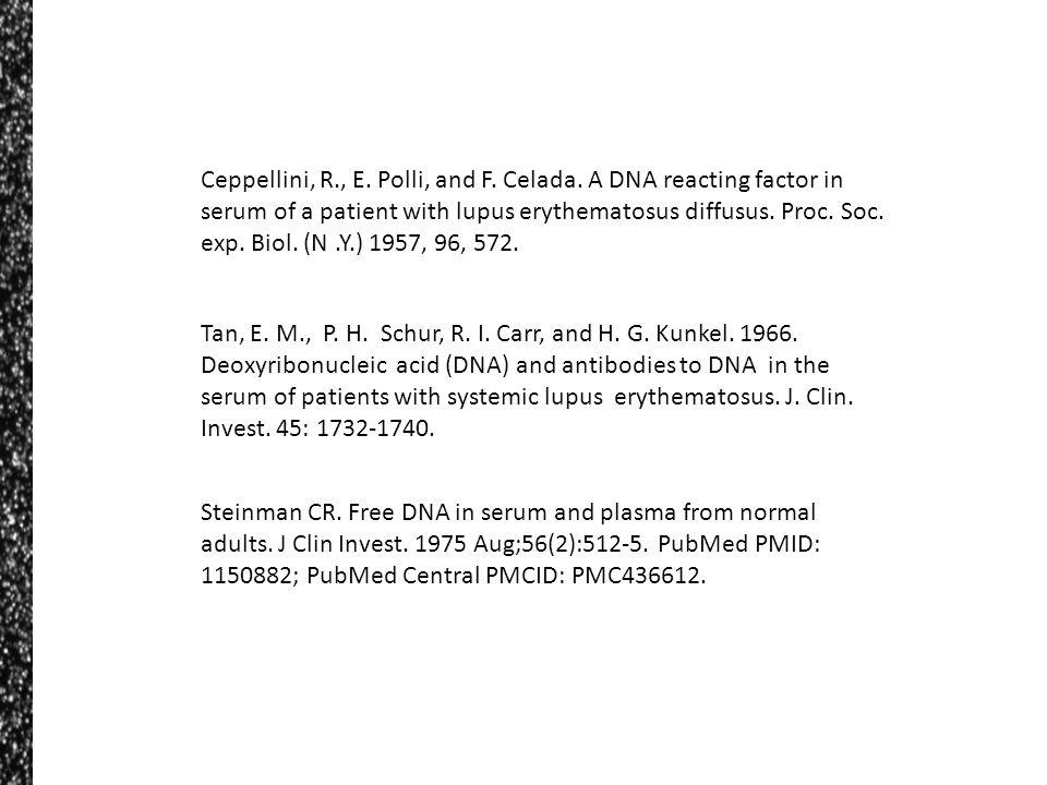 Ceppellini, R. , E. Polli, and F. Celada