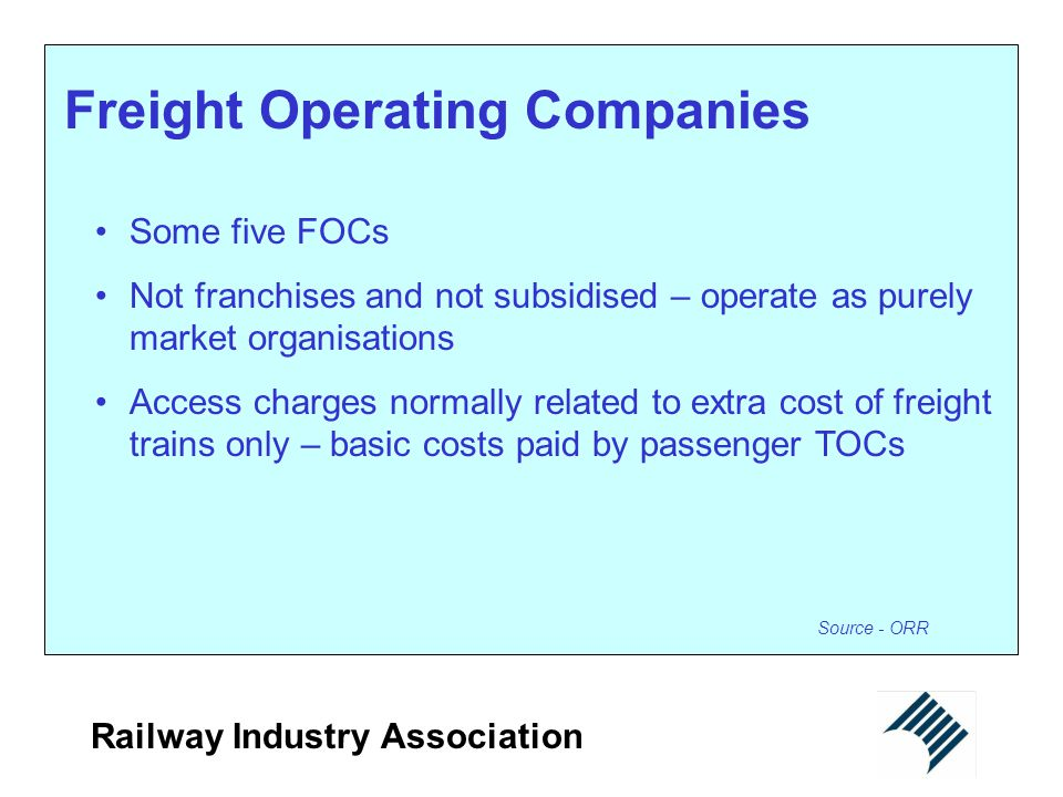 Freight Operating Companies