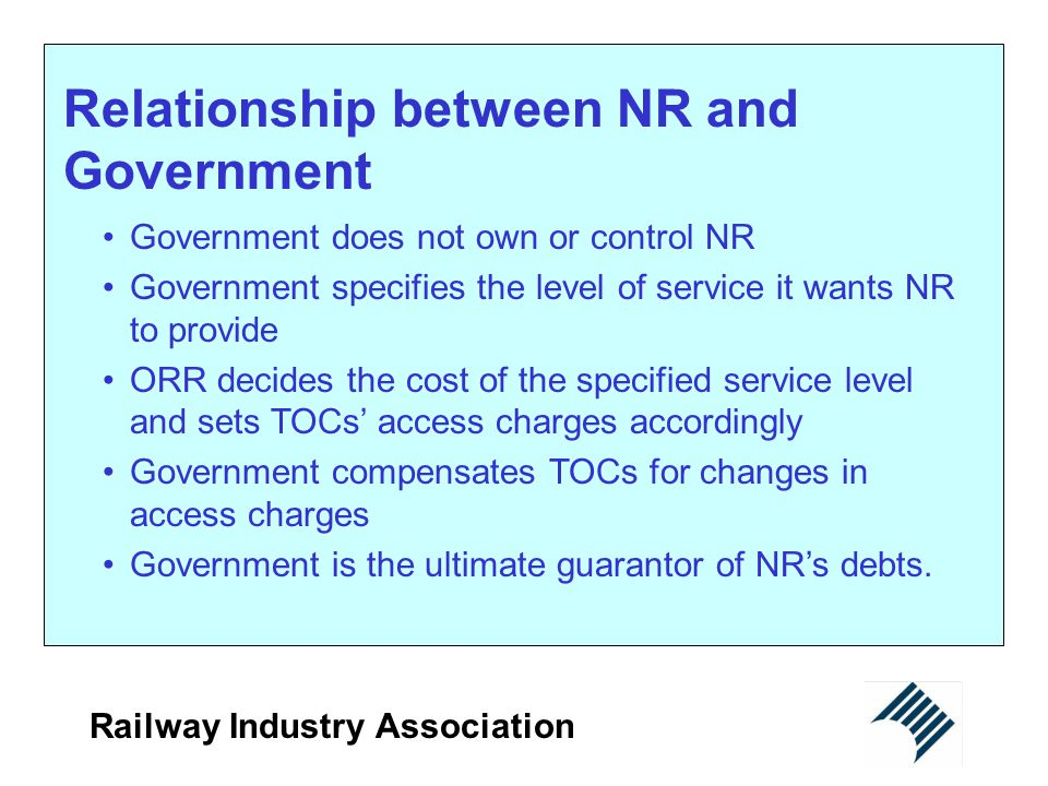Relationship between NR and Government