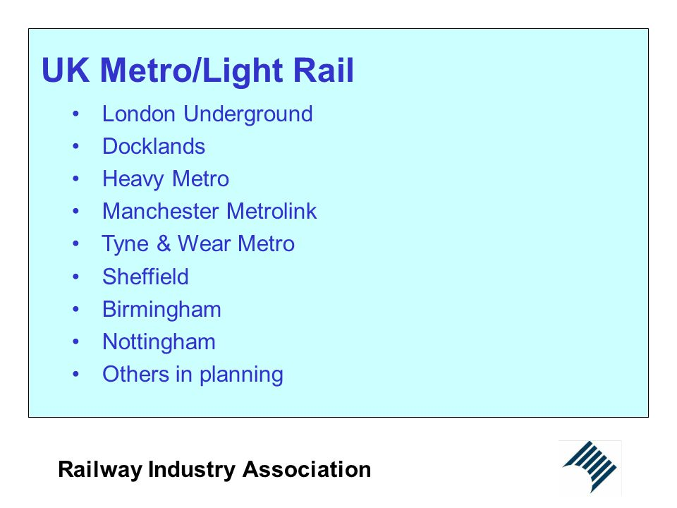 UK Metro/Light Rail London Underground Docklands Heavy Metro