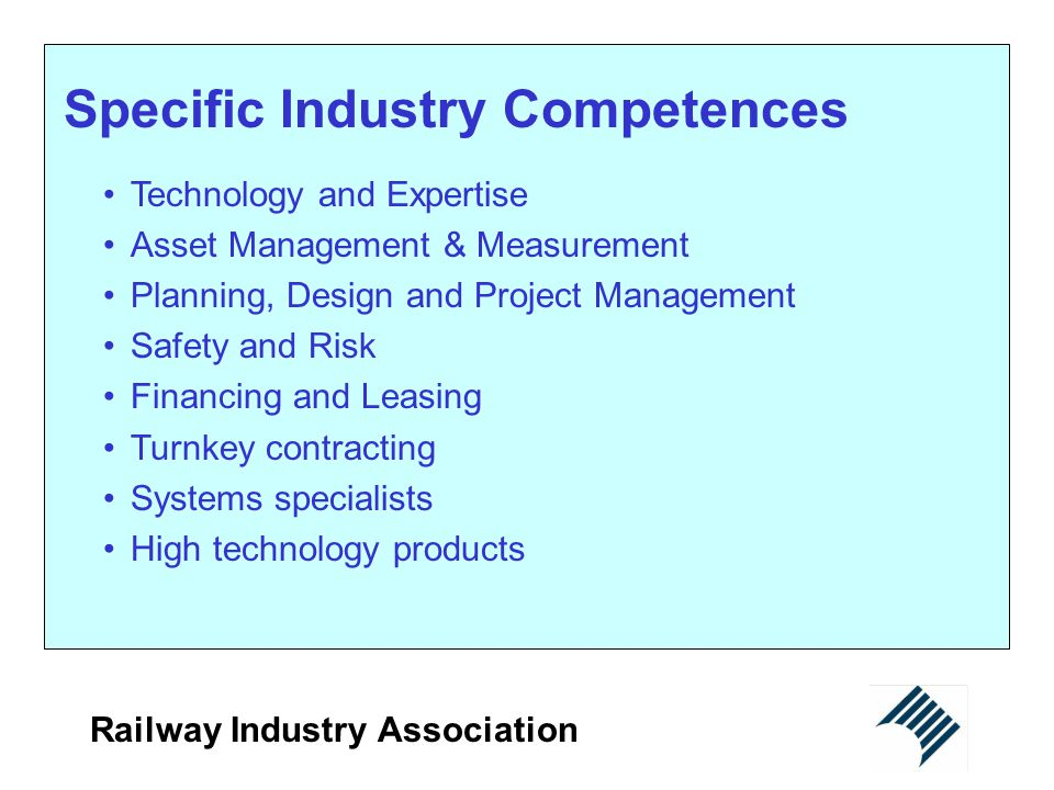 Specific Industry Competences