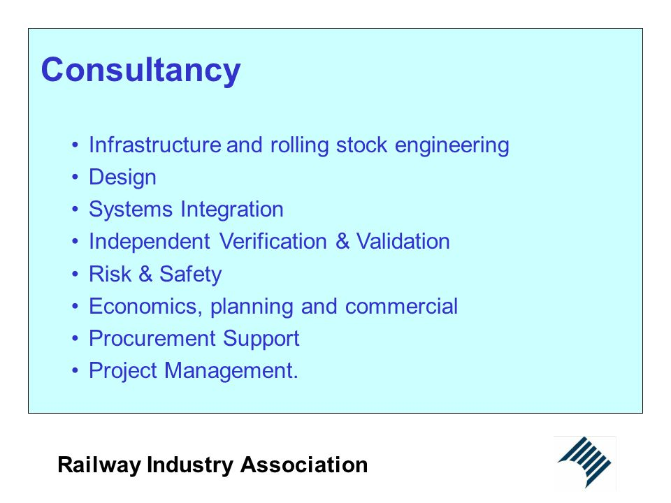 Consultancy Infrastructure and rolling stock engineering Design