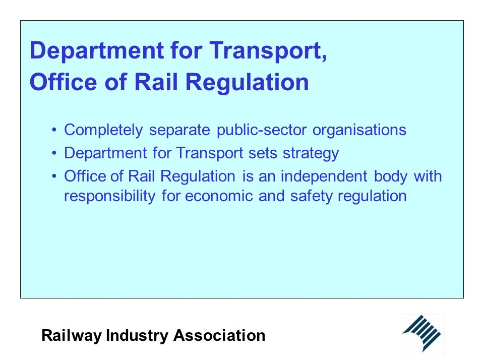 Department for Transport, Office of Rail Regulation