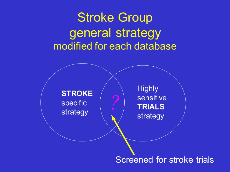 Stroke Group general strategy modified for each database
