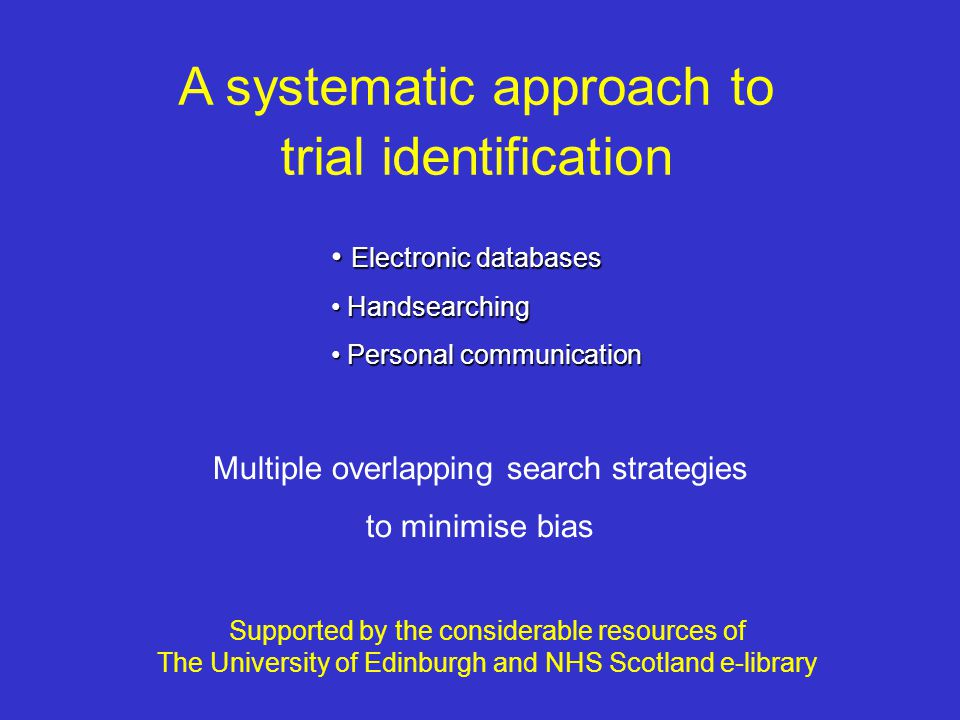 A systematic approach to trial identification