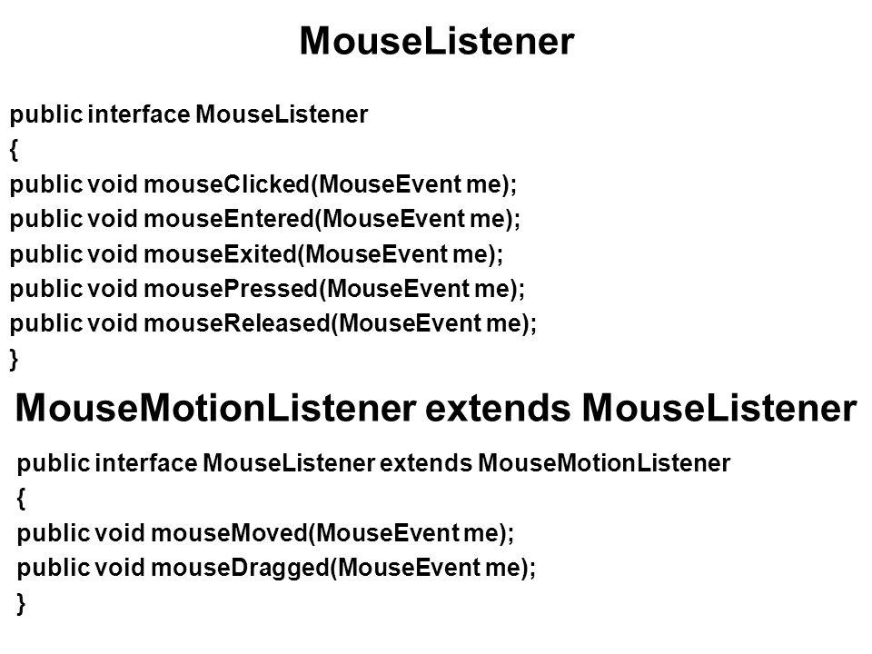 MouseMotionListener extends MouseListener
