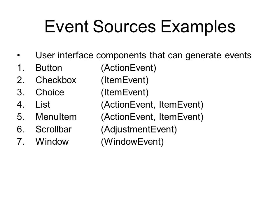 Event Sources Examples