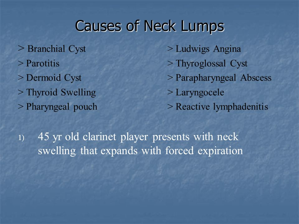Causes of Neck Lumps > Branchial Cyst > Ludwigs Angina