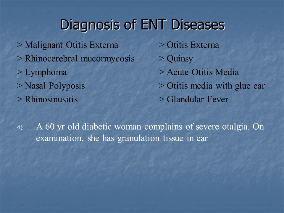 Diagnosis of ENT Diseases