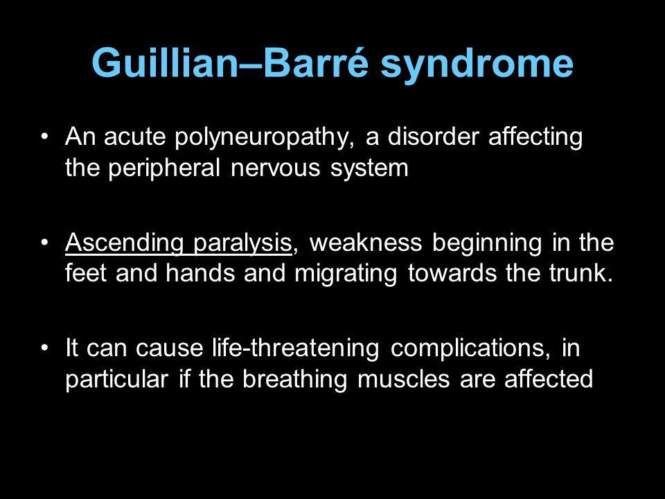 Guillian–Barré syndrome