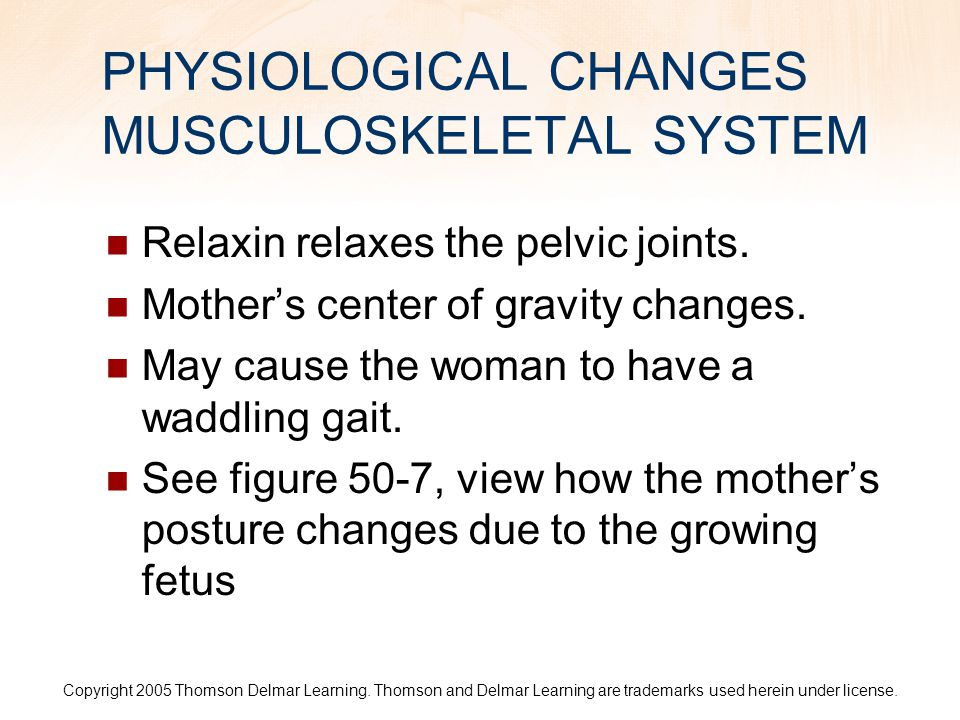 PHYSIOLOGICAL CHANGES MUSCULOSKELETAL SYSTEM