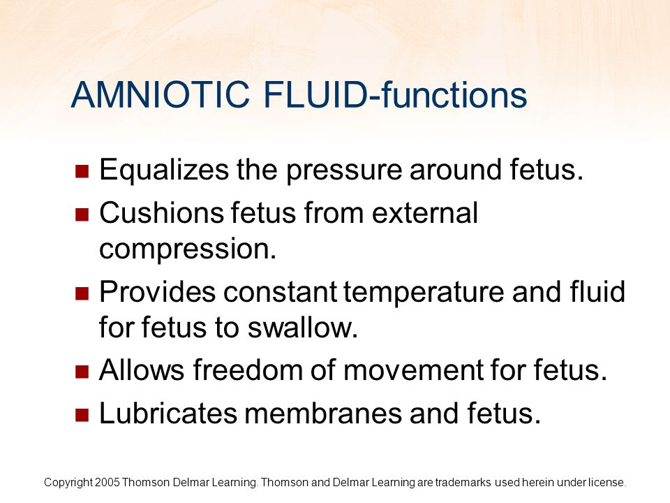 AMNIOTIC FLUID-functions