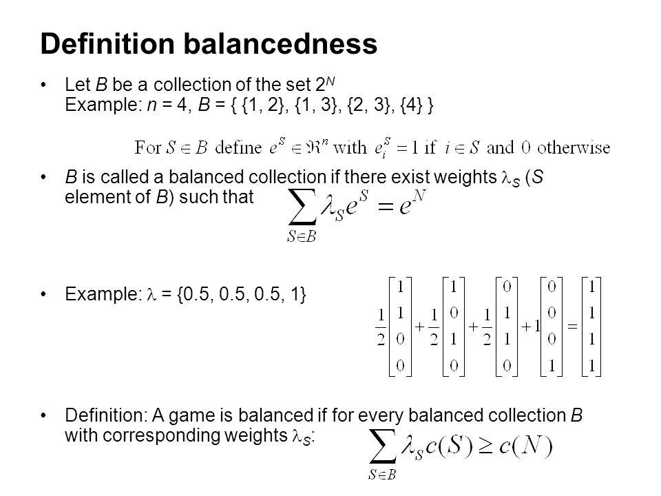 Definition balancedness