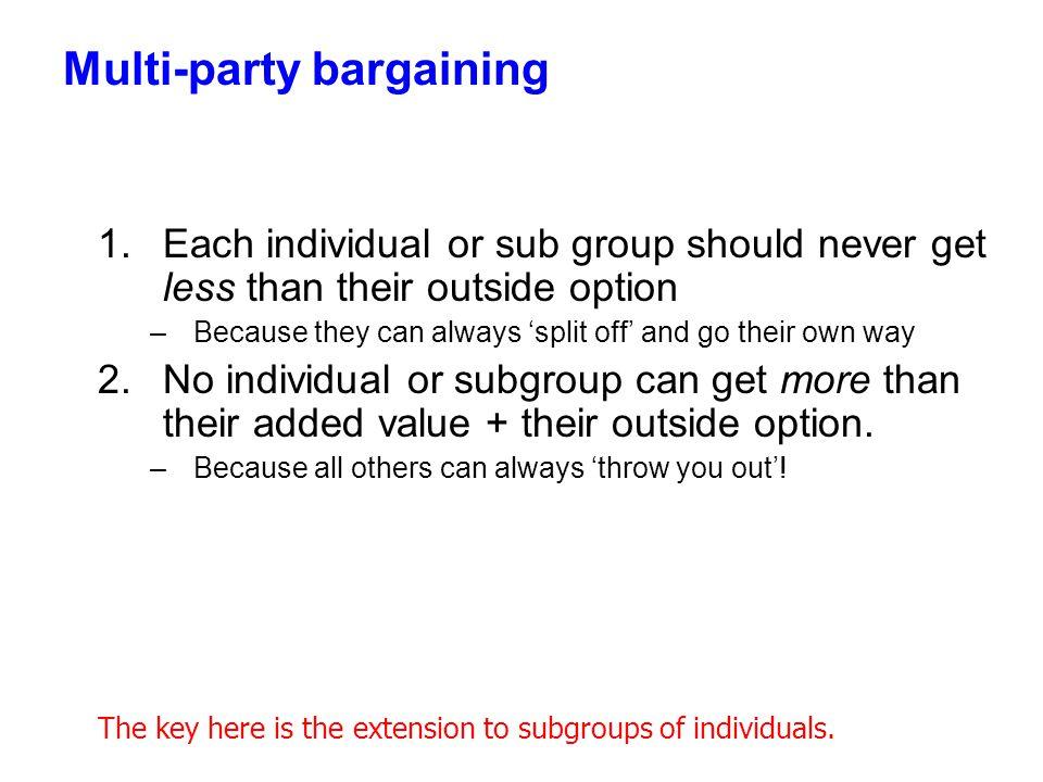 Multi-party bargaining