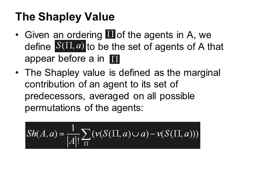 The Shapley Value