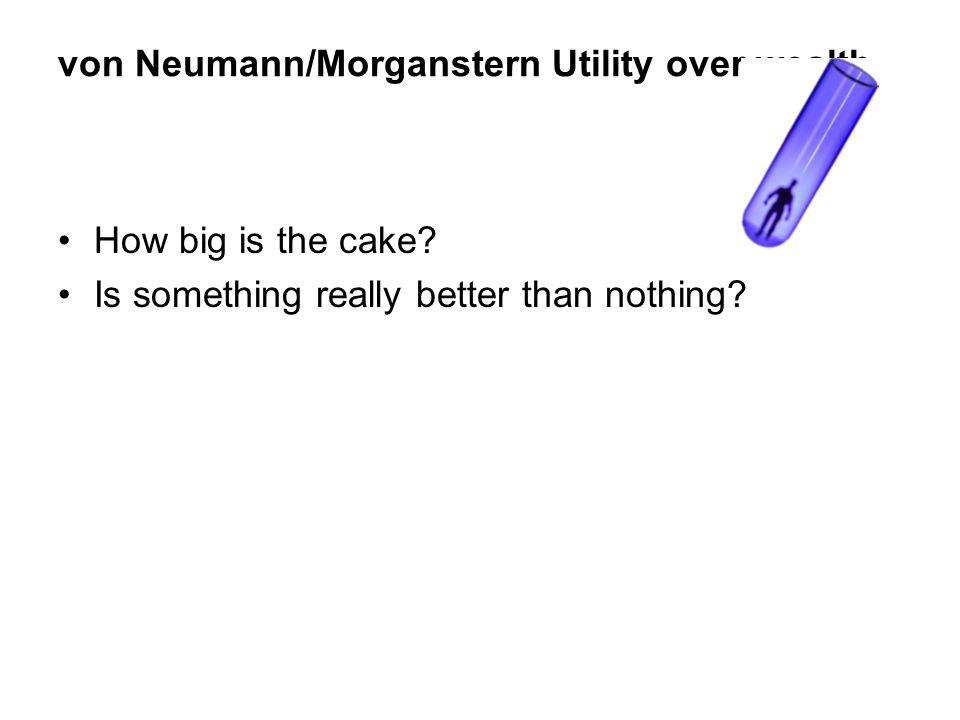 von Neumann/Morganstern Utility over wealth
