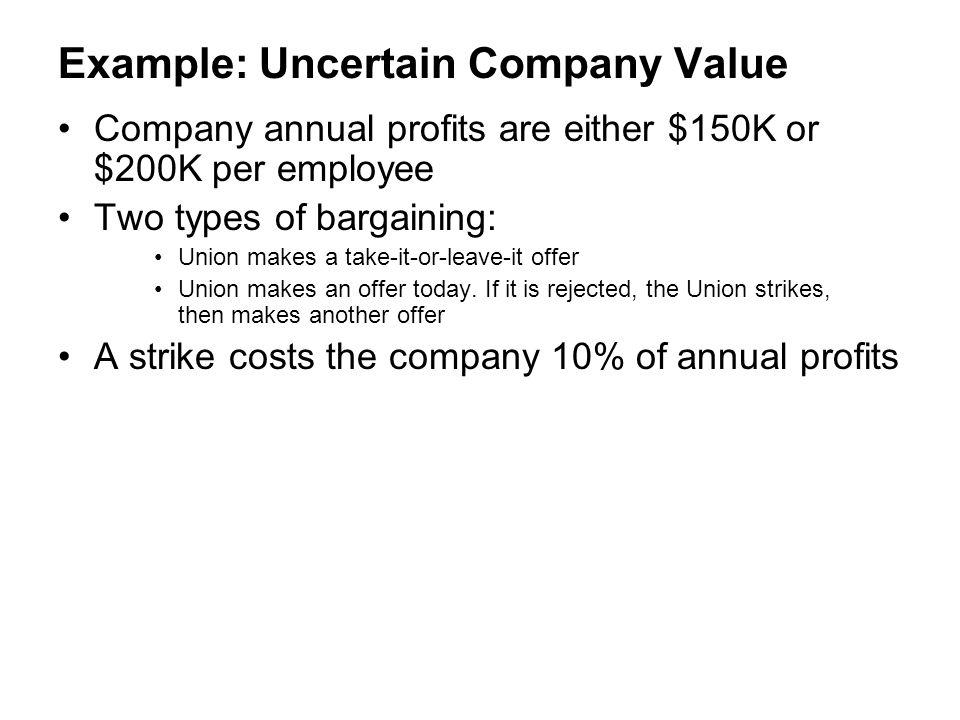 Example: Uncertain Company Value