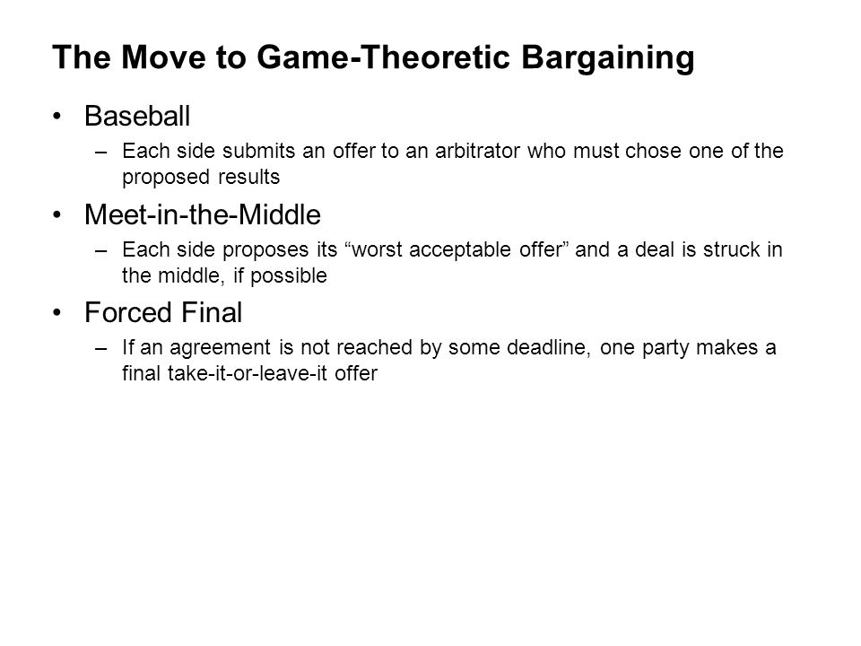 The Move to Game-Theoretic Bargaining