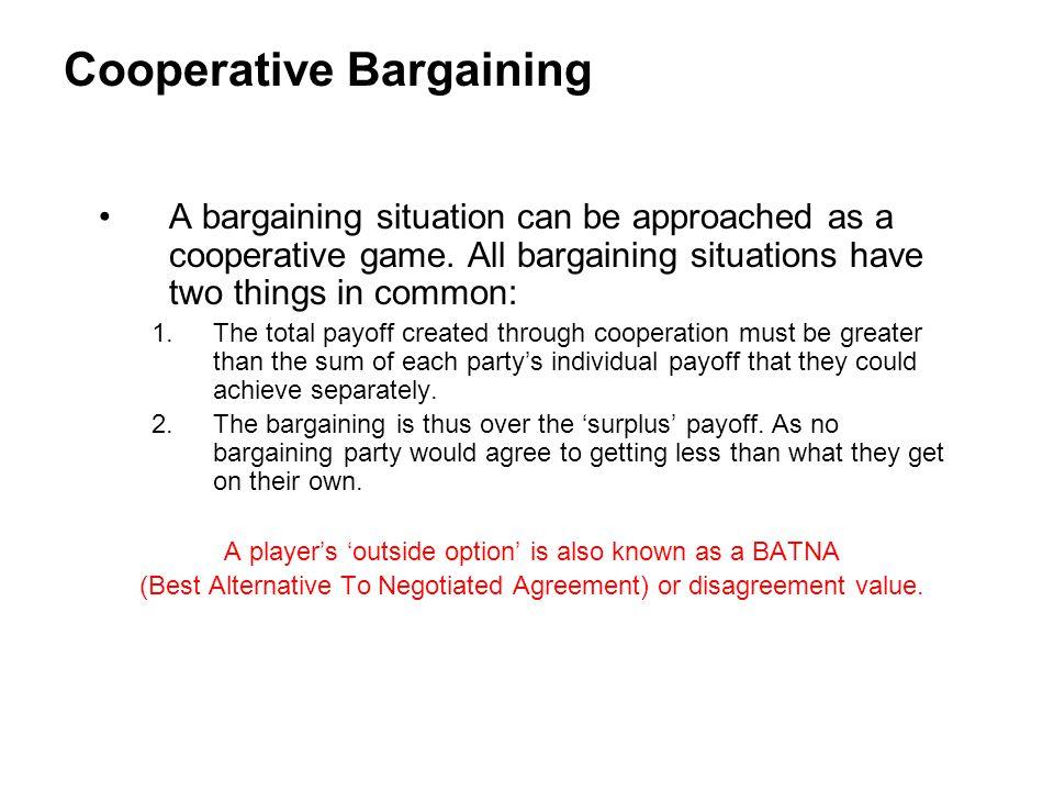 Cooperative Bargaining