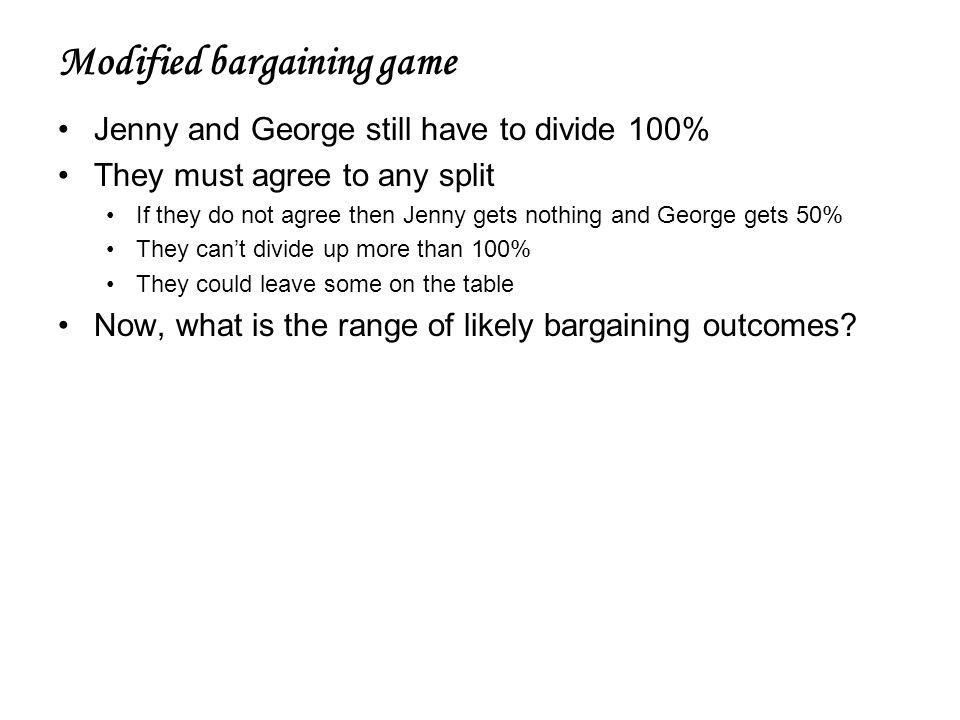 Modified bargaining game