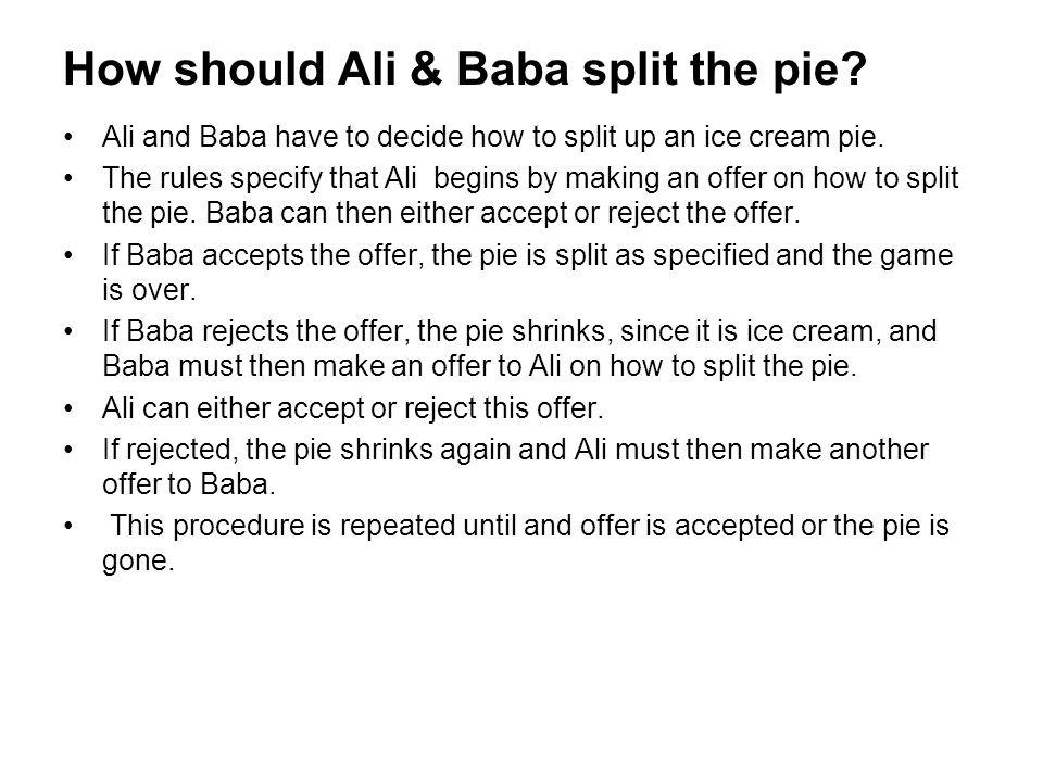 How should Ali & Baba split the pie
