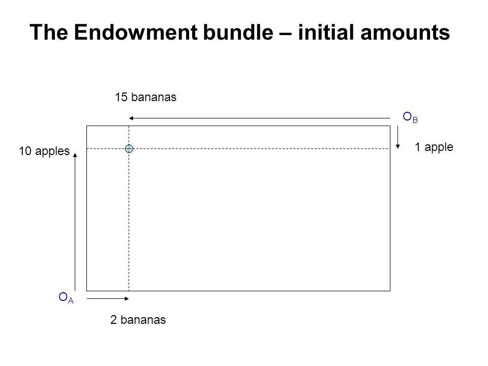 The Endowment bundle – initial amounts