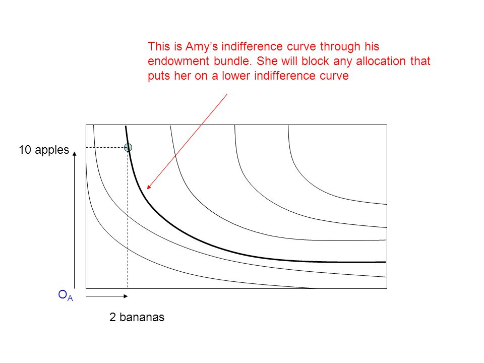 This is Amy's indifference curve through his endowment bundle