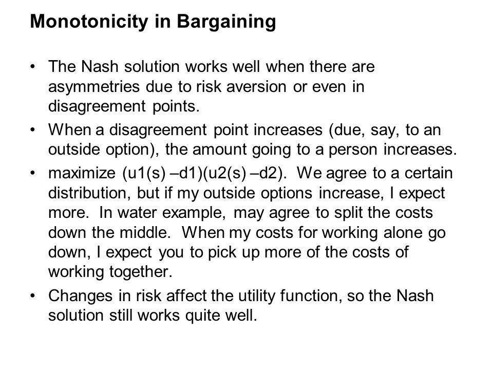 Monotonicity in Bargaining