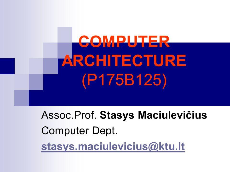 COMPUTER ARCHITECTURE (P175B125)