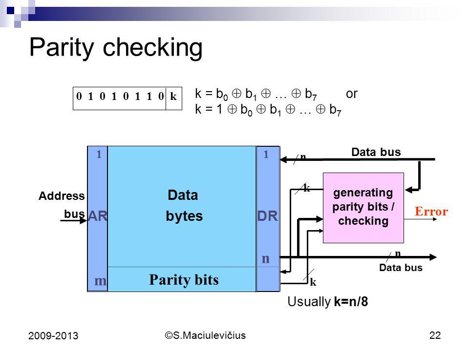 generating parity bits / checking
