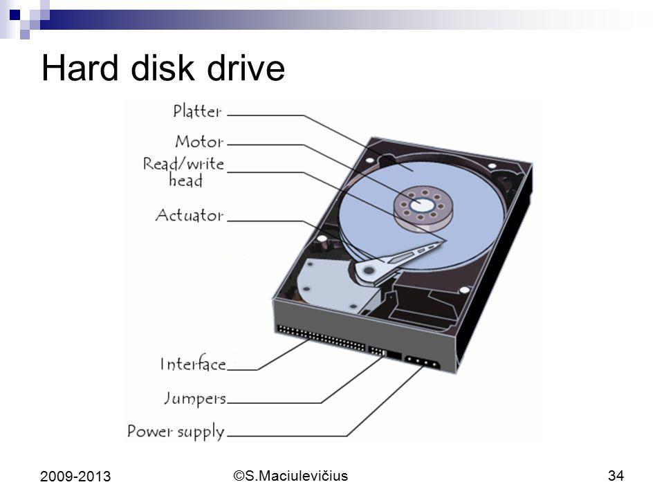 Hard disk drive 2009-2013 ©S.Maciulevičius