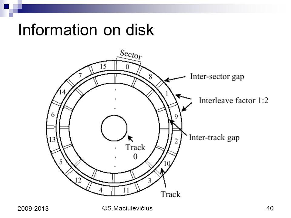 Information on disk 2009-2013 ©S.Maciulevičius