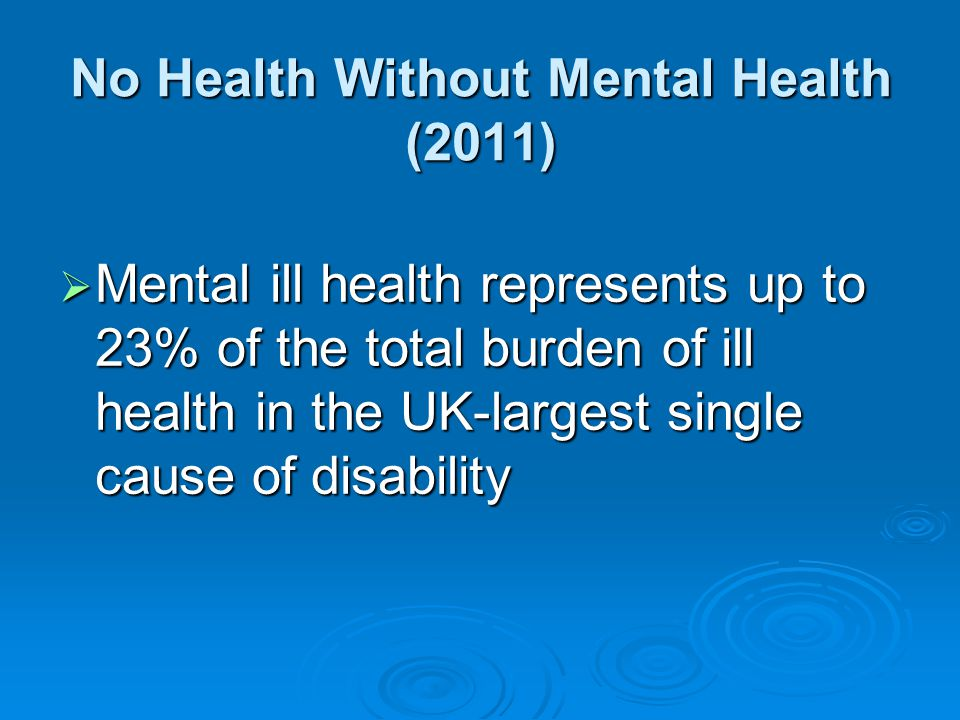 No Health Without Mental Health (2011)