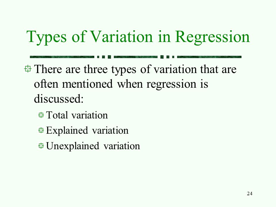 Types of Variation in Regression