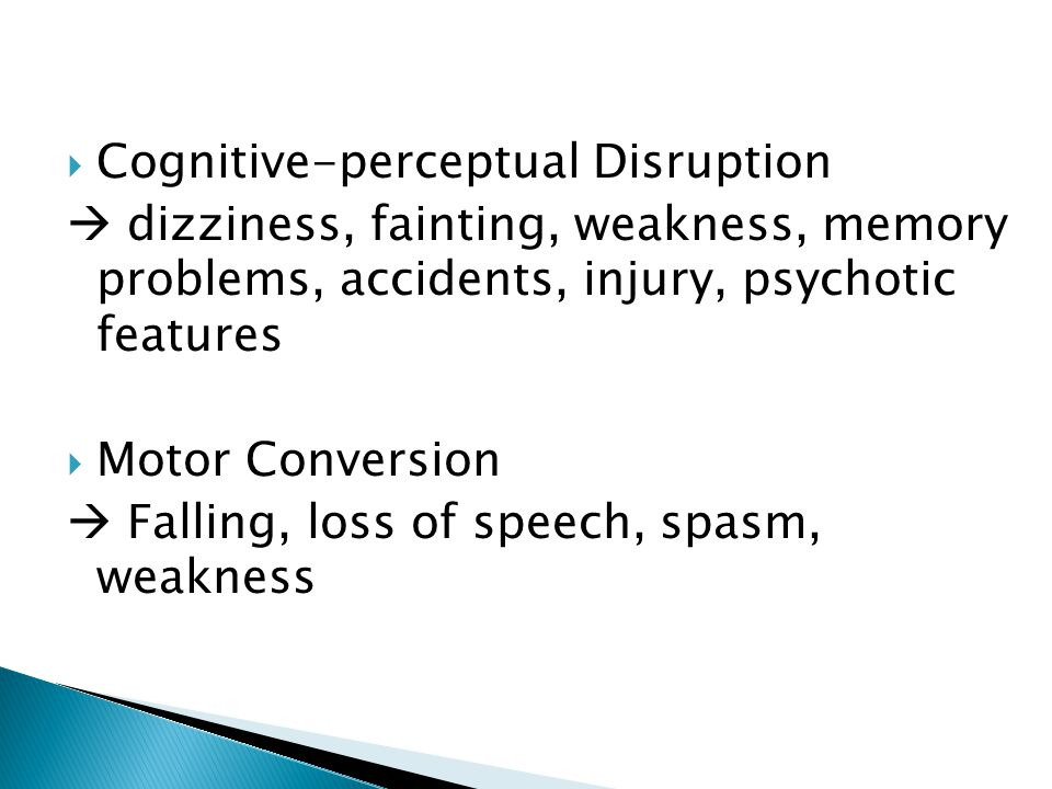 Cognitive-perceptual Disruption