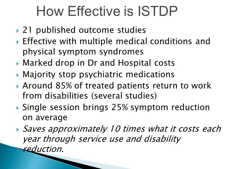 How Effective is ISTDP 21 published outcome studies