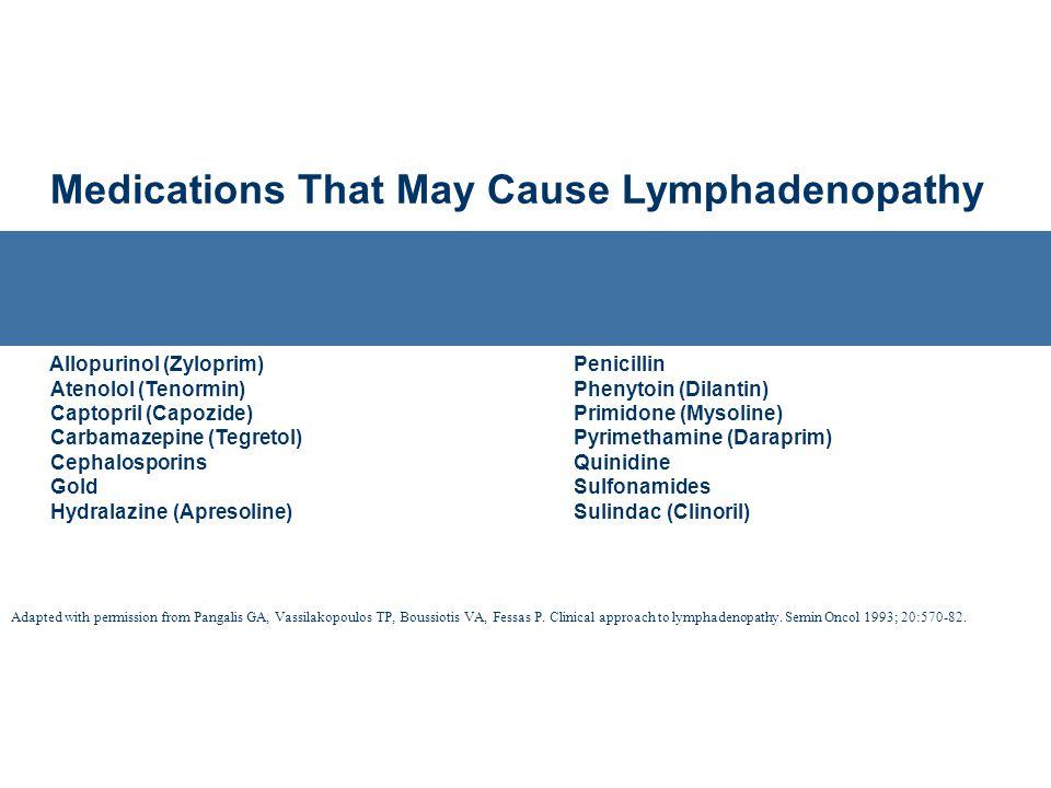 Medications That May Cause Lymphadenopathy