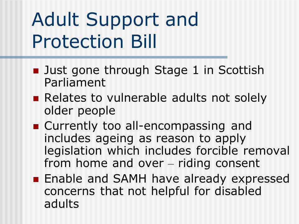 Adult Support and Protection Bill
