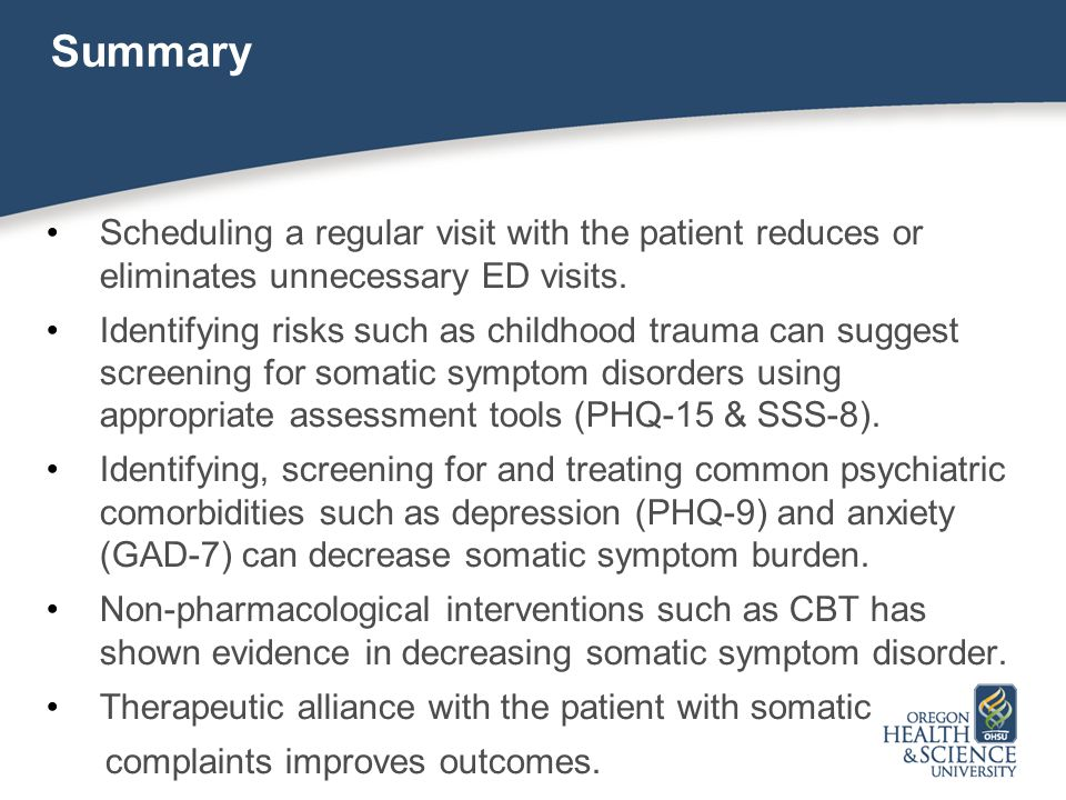 Summary Scheduling a regular visit with the patient reduces or eliminates unnecessary ED visits.