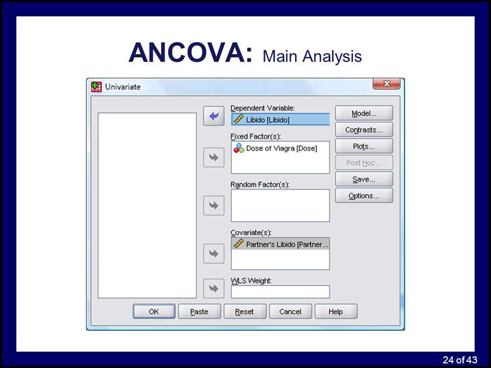 ANCOVA: Main Analysis