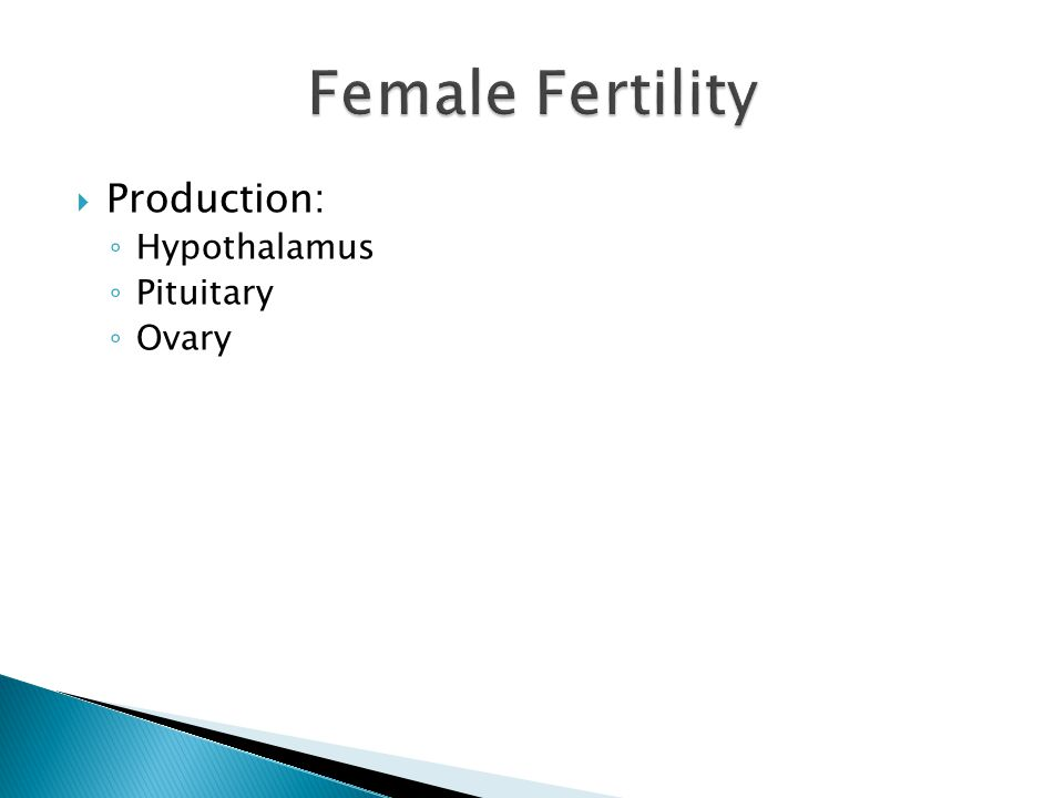 Female Fertility Production: Hypothalamus Pituitary Ovary