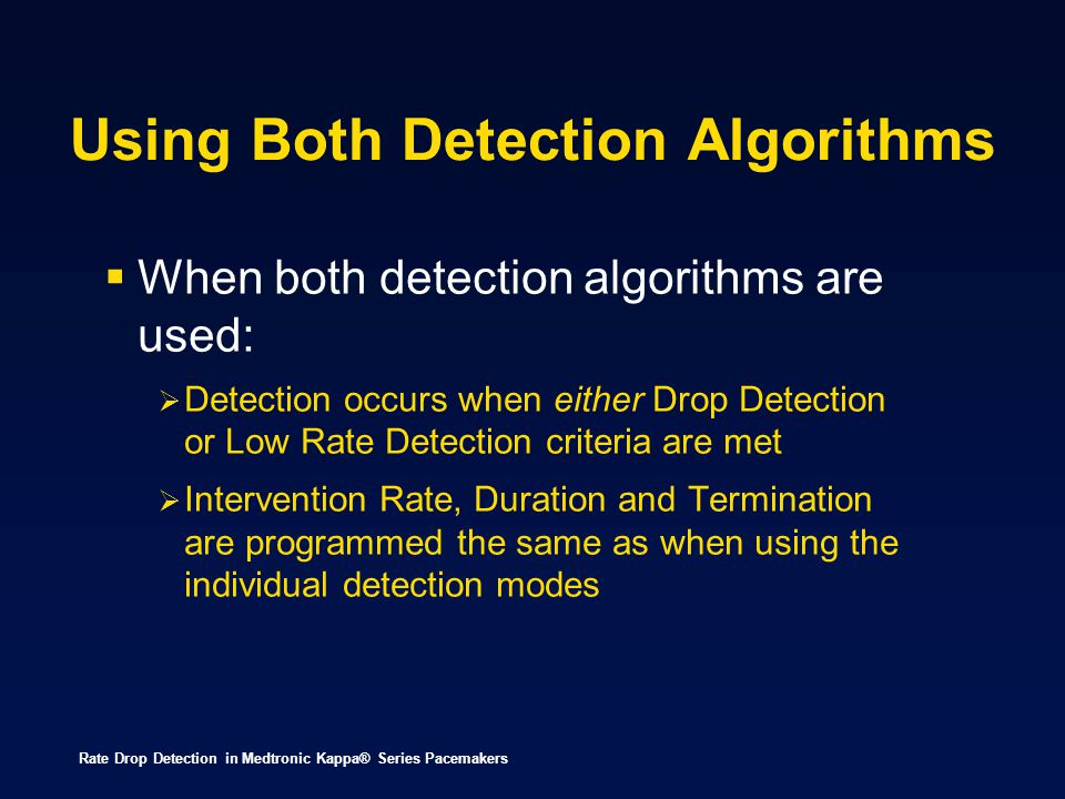 Using Both Detection Algorithms