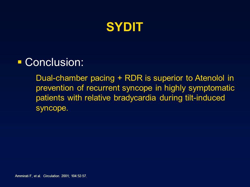 SYDIT Conclusion:
