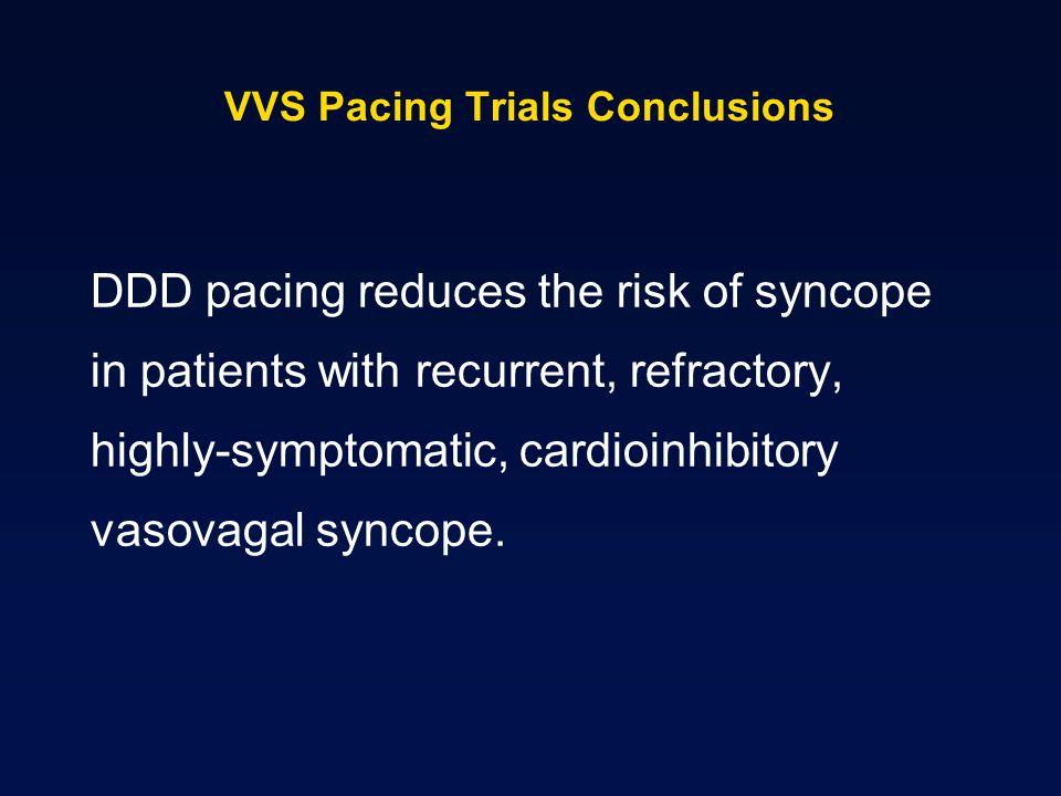 VVS Pacing Trials Conclusions