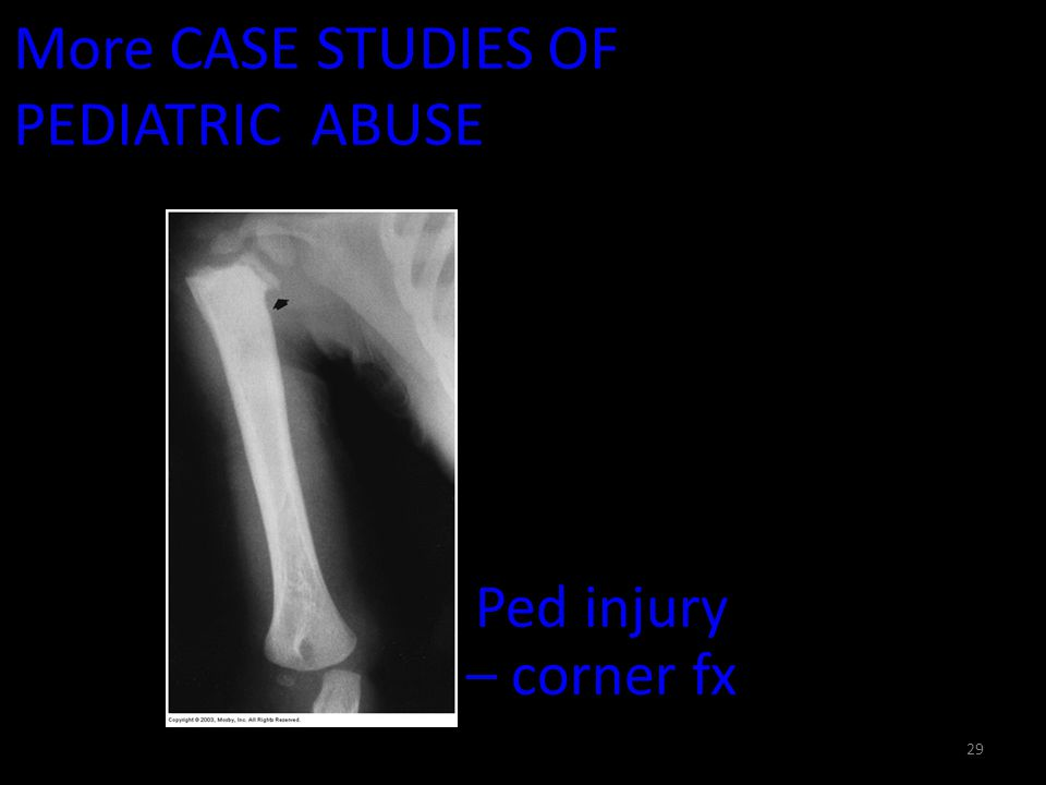 More CASE STUDIES OF PEDIATRIC ABUSE