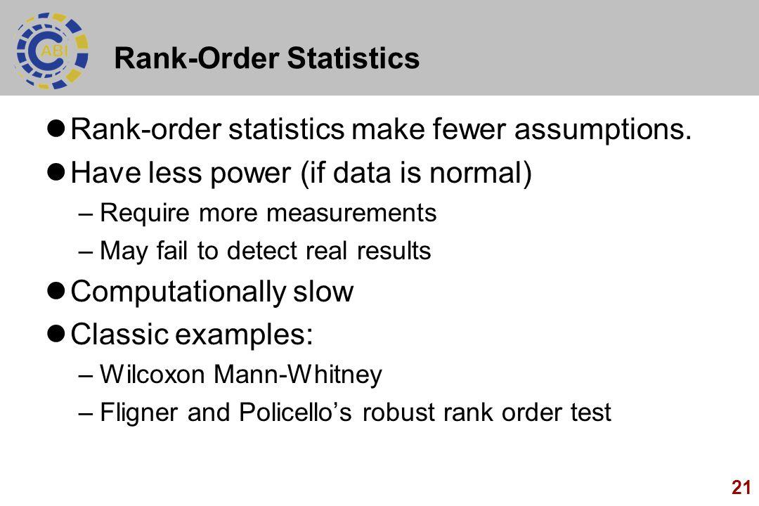 Rank-Order Statistics